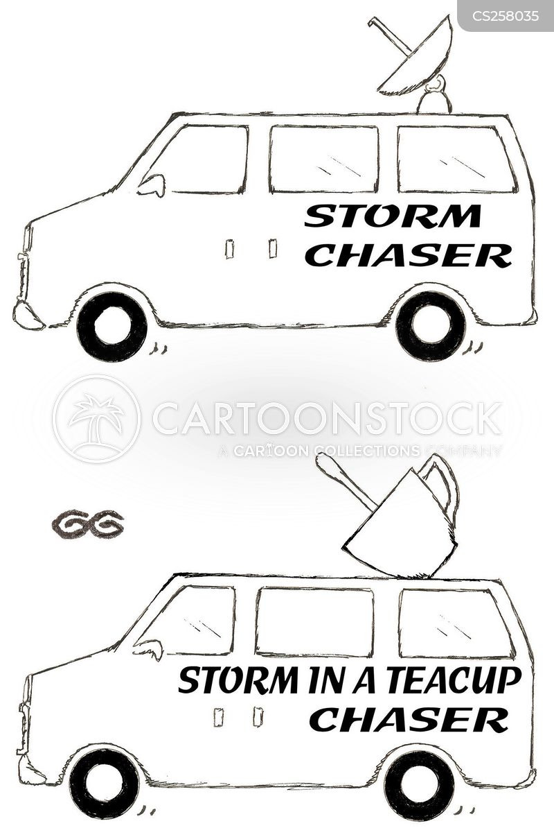 storm chaser cartoon