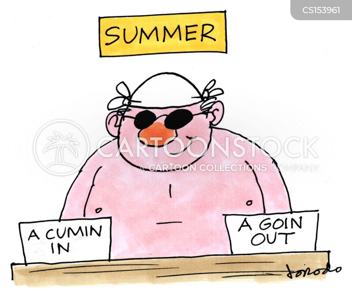 hot days cartoon