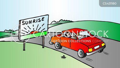 sunrises cartoon
