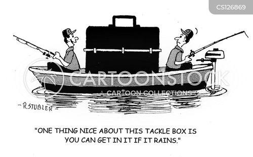 tackle boxes cartoon