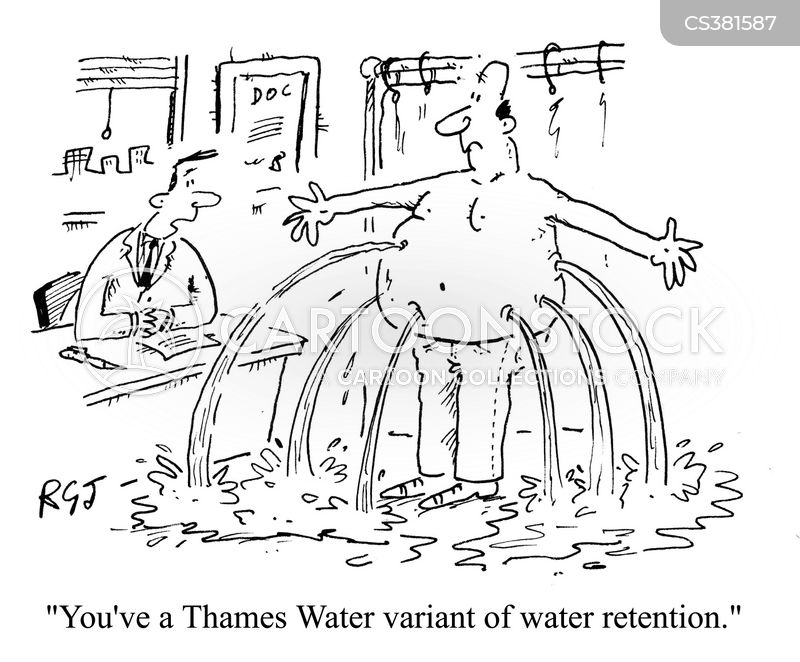 water leaks cartoon