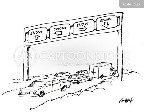 driving condition cartoon