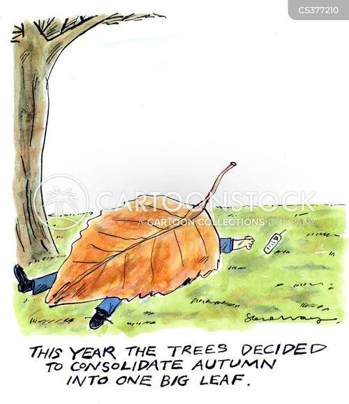 falling leaves cartoon