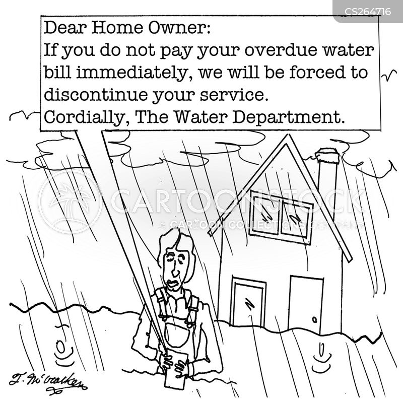 Water Bill Cartoons and Comics - funny pictures from CartoonStock