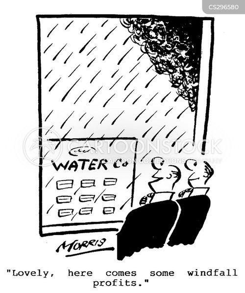 windfall profit cartoon