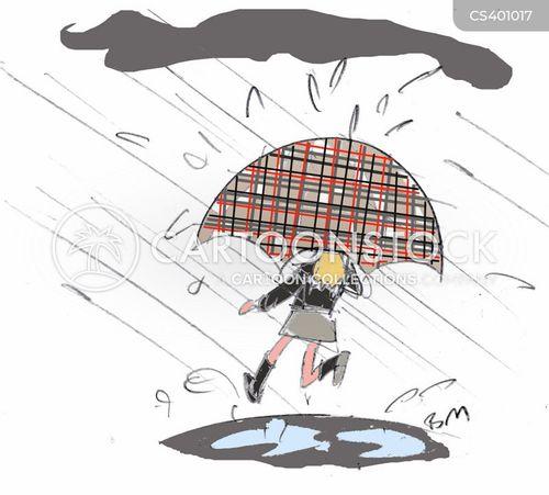 downpour cartoon