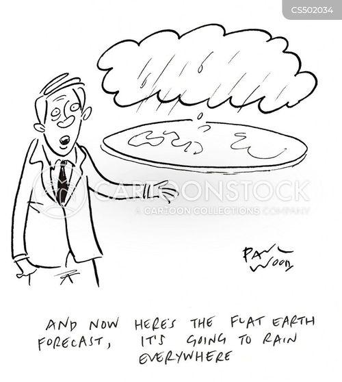 flat earthers cartoon