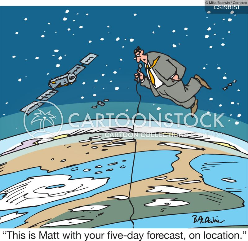 weather guy cartoon