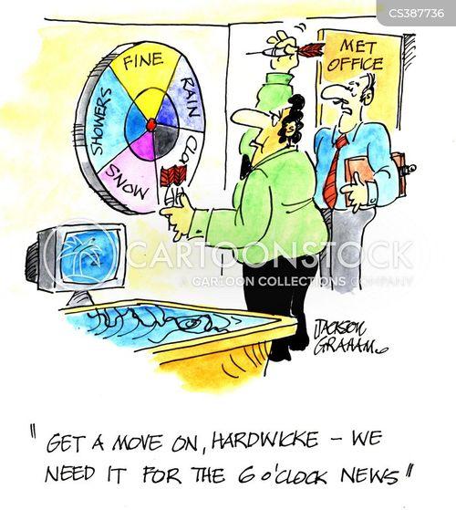 weather reporting cartoon