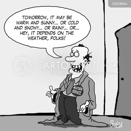 weather forecaster cartoon