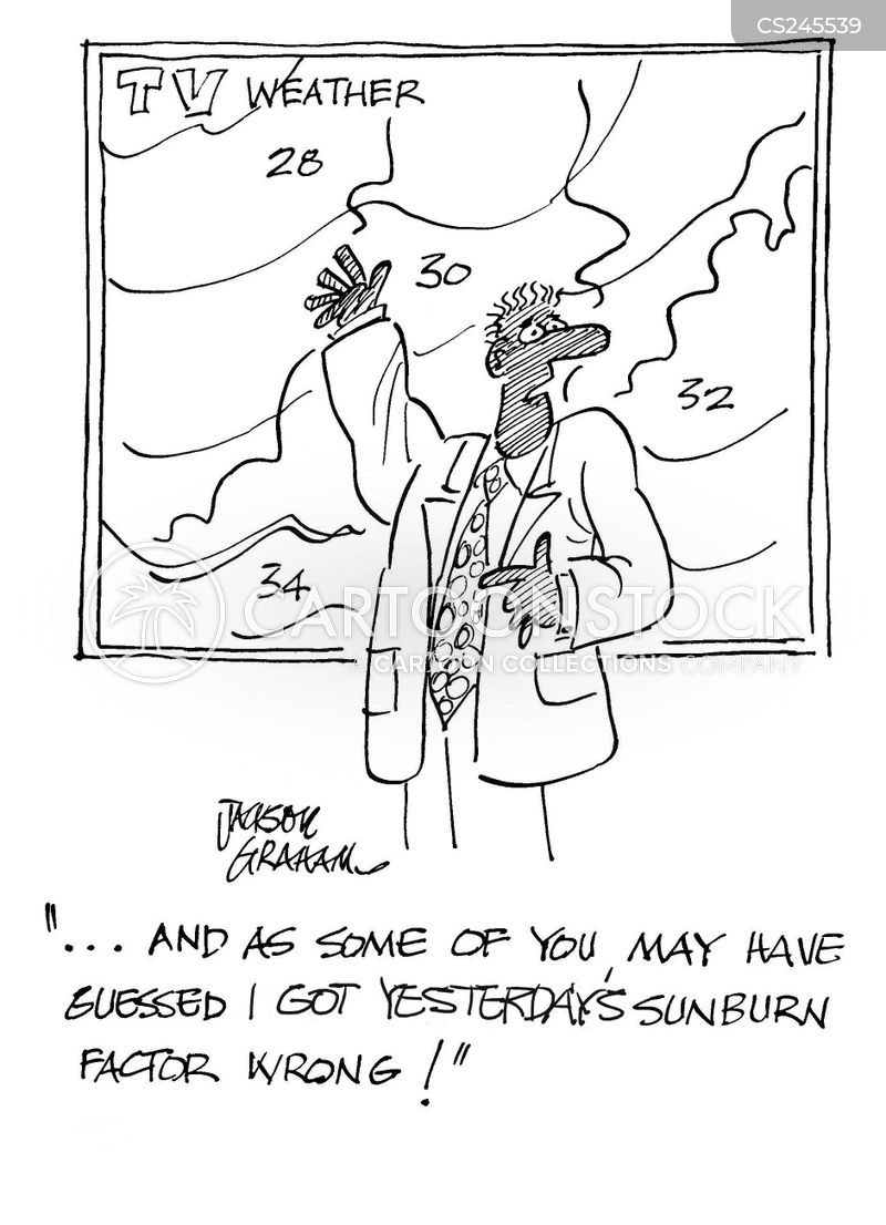 Pictures of Weather Reports Weather Reporters Cartoon 8 of