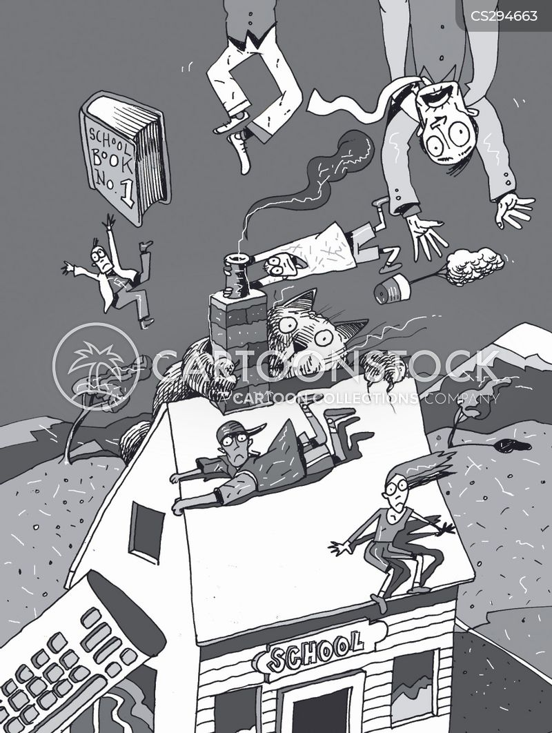 blown away cartoon