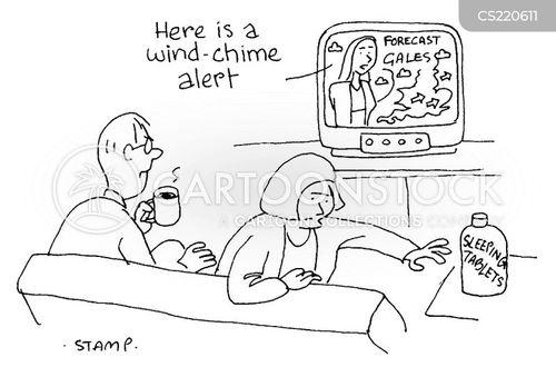 wind chimes cartoon
