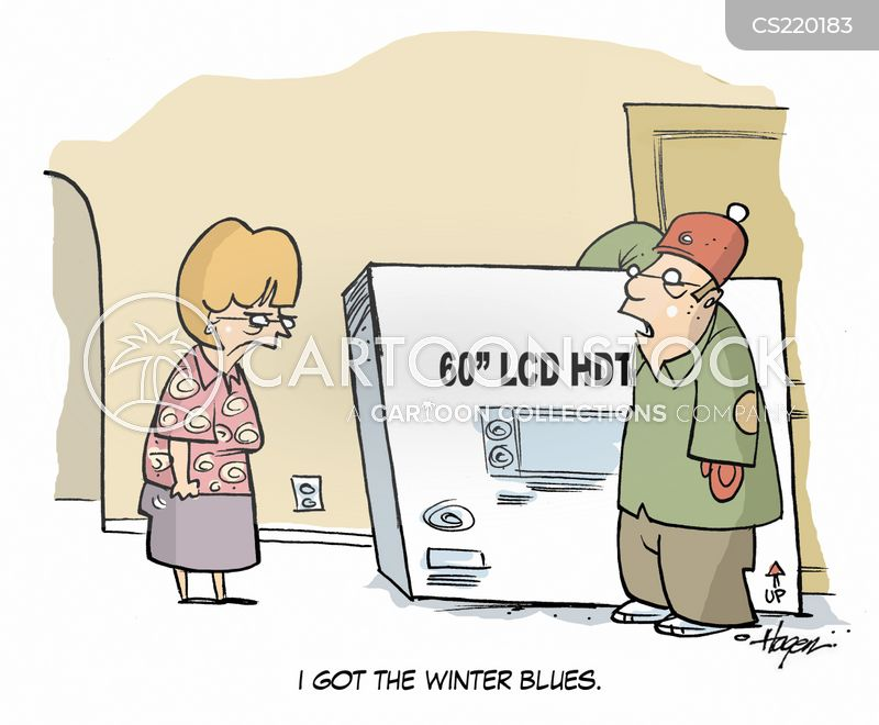 winter blues cartoon