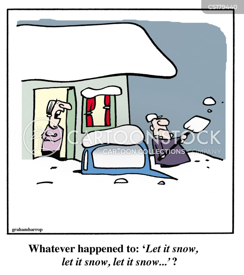 shoveling cartoon