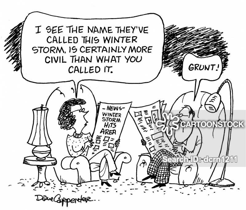 winter storm cartoon