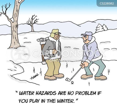 frozen lake cartoon