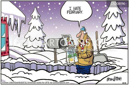 wintry weather cartoon