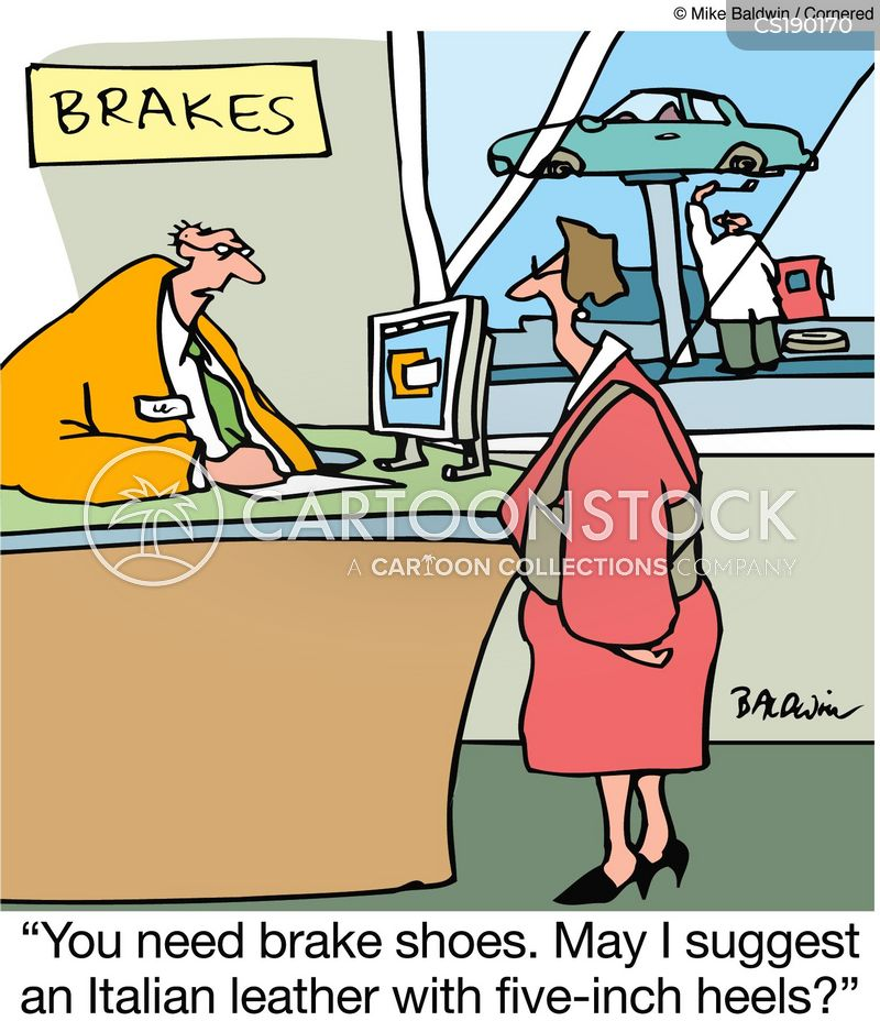 high heels cartoon