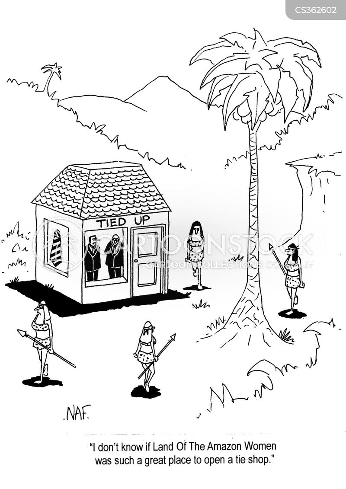 tie shops cartoon
