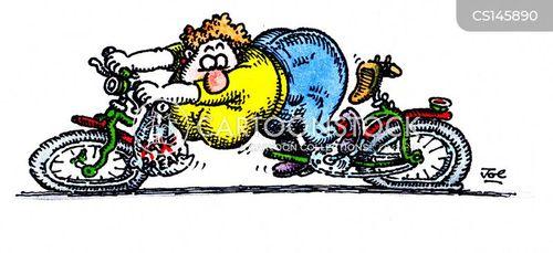 Broken Bikes Cartoons and Comics - funny pictures from CartoonStock