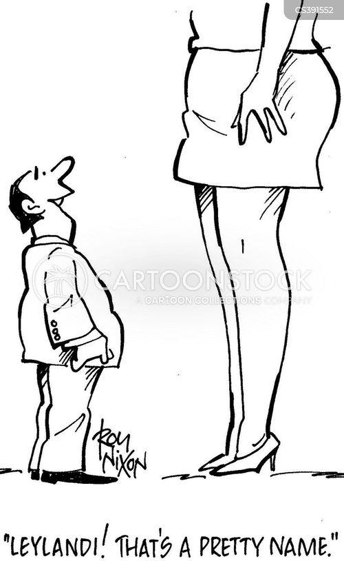 tall woman cartoon