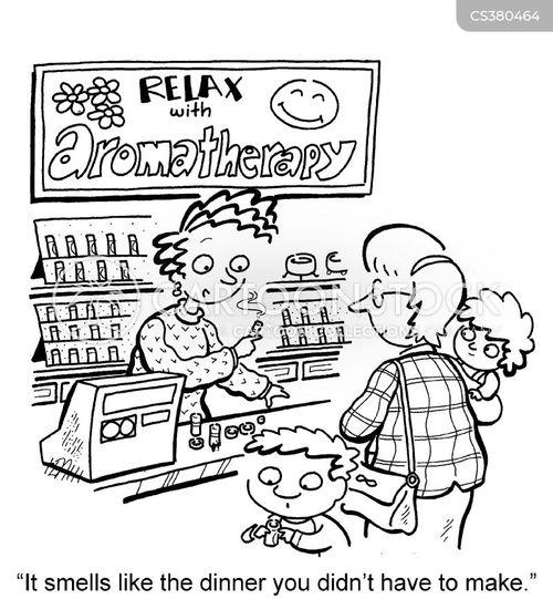 aromatherapy cartoon