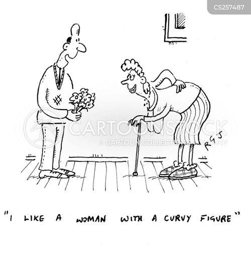 bent spine cartoon