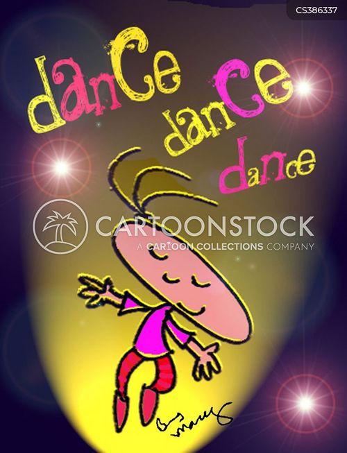 dancing girls cartoon