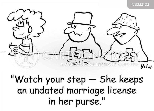 marriage licenses cartoon