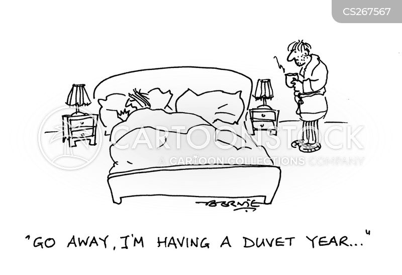 staying in bed cartoon