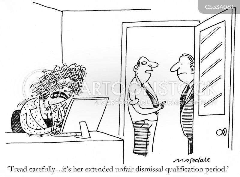 unfair dismissals cartoon