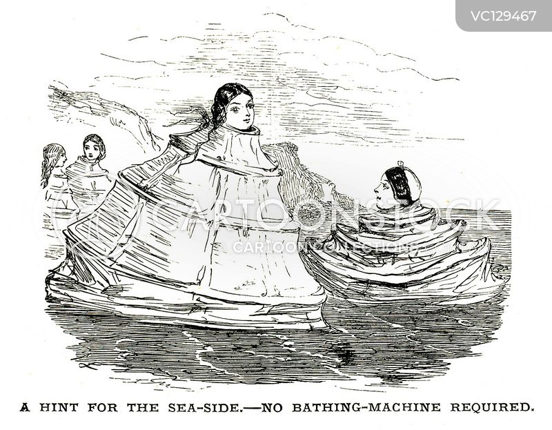 Bathing Machine cartoons, Bathing Machine cartoon, funny, Bathing Machine picture, Bathing Machine pictures, Bathing Machine image, Bathing Machine images, Bathing Machine illustration, Bathing Machine illustrations