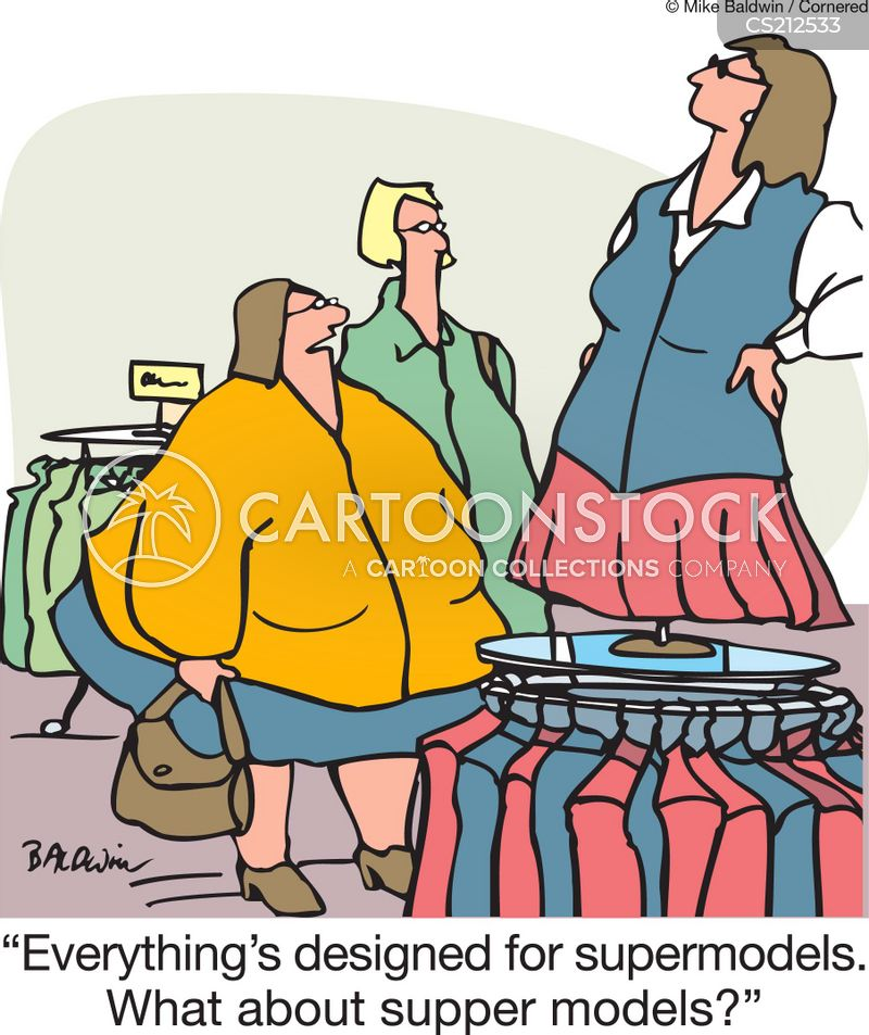 clothes sizing cartoon