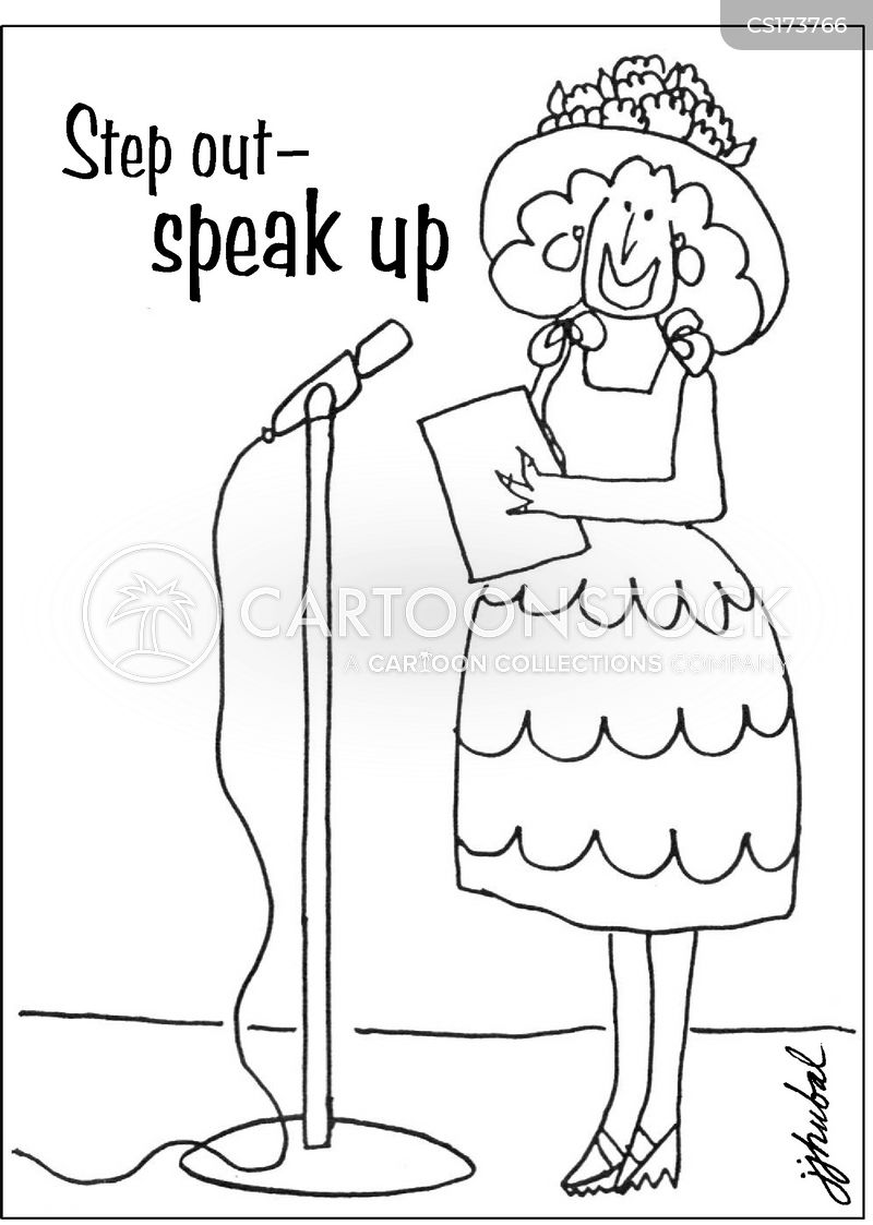 speaking out cartoon