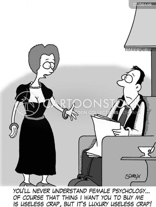 female psychology cartoon