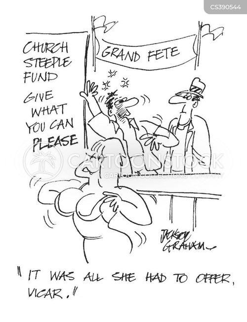 church steeple fund cartoon