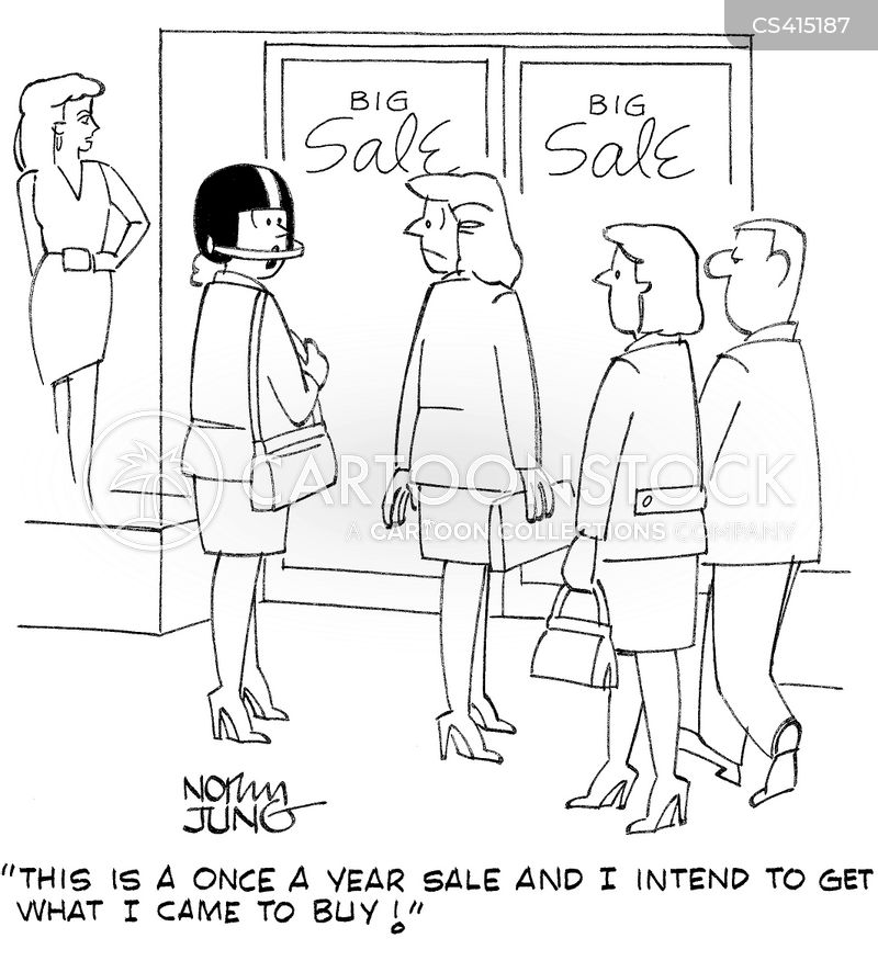 holiday sales cartoon