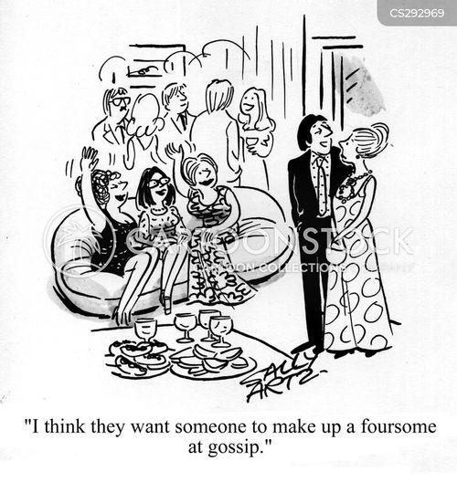 foursomes cartoon