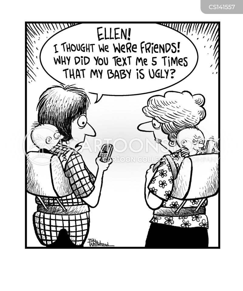 Group Texting Cartoon 1 of 1