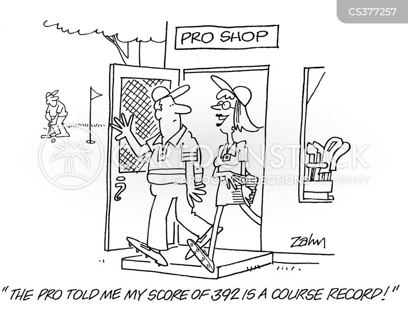 female golfers cartoon