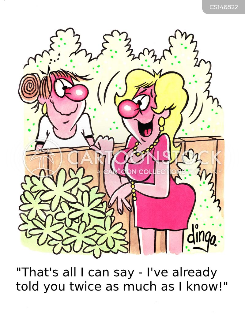garden fence cartoon