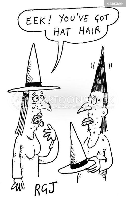 hat hair cartoon