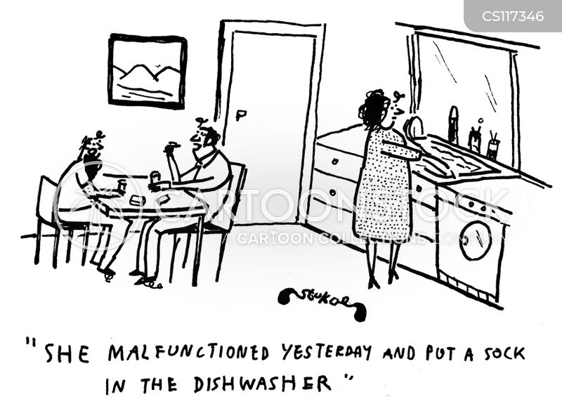 kitchen sink cartoon