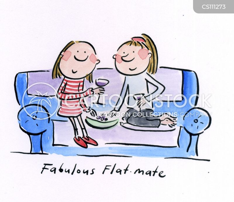 flatmate cartoon