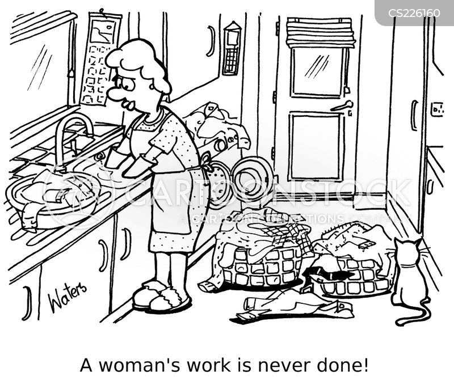 womens work cartoon
