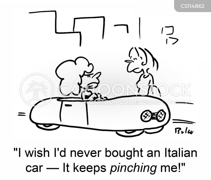 pinching cartoon