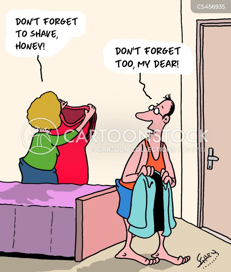 female grooming cartoon