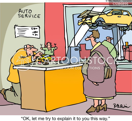 garage mechanic cartoon