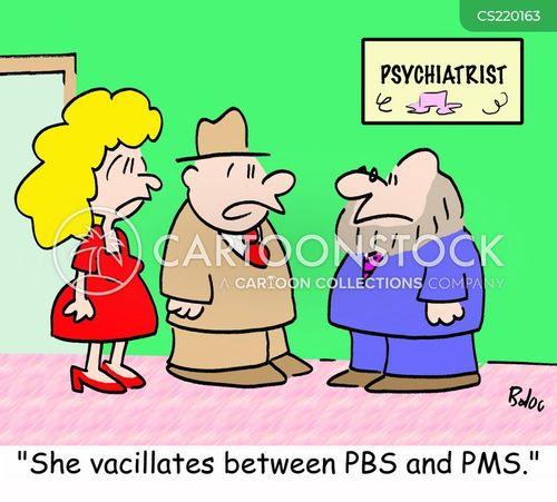 pre-menstrual syndrome cartoon